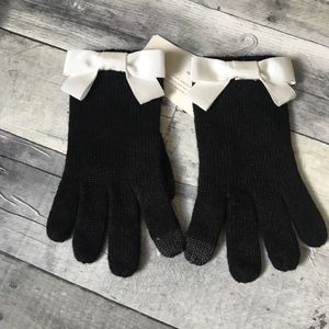 Kate Spade Bow Tech Touch Tip Gloves Black
